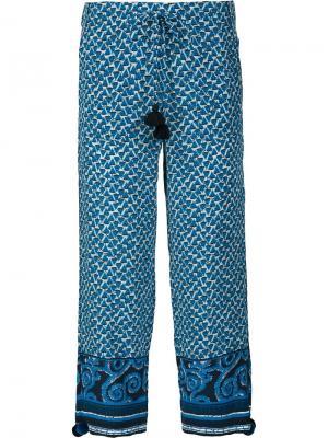 Укороченные брюки Fiore Figue. Цвет: синий