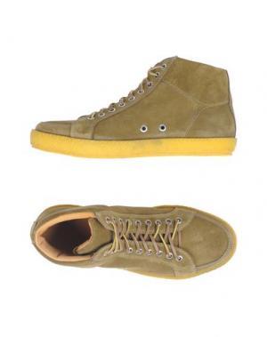 Высокие кеды и кроссовки PANTOFOLA D'ORO. Цвет: зеленый-милитари