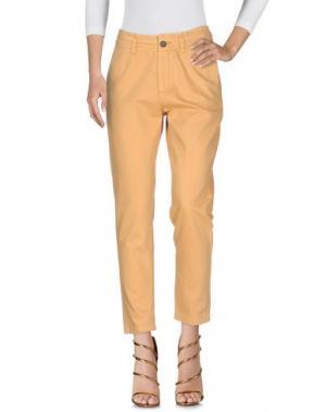 Джинсовые брюки INTROPIA. Цвет: верблюжий