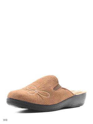 Тапочки AKINALBELLA. Цвет: коричневый