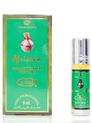 Арабские масляные духи Африкана (Africana), 6 мл Al Rehab. Цвет: зеленый, золотистый