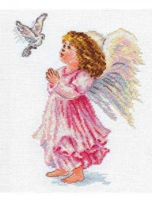 Набор для вышивания Благослови  18х24 см. Алиса. Цвет: белый, коричневый, розовый