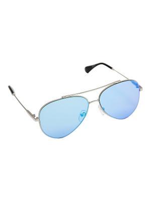 Солнцезащитные очки Kameo-bis. Цвет: голубой, серебристый, черный