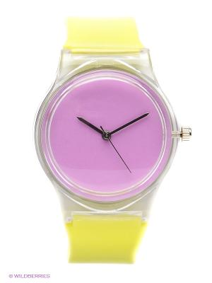 Часы Kawaii Factory. Цвет: желтый, сиреневый