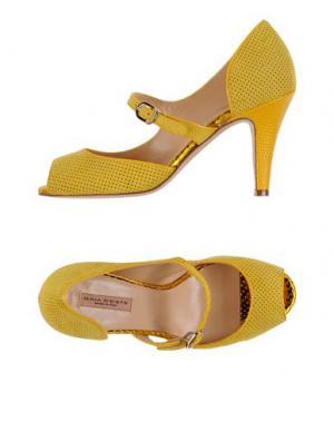 Туфли GAIA D'ESTE. Цвет: желтый