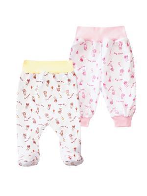 Комплект одежды: ползунки, штанишки Коллекция Happy Bunny КОТМАРКОТ. Цвет: розовый