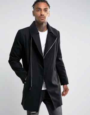 Criminal Damage Пальто. Цвет: черный