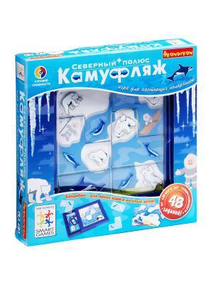 Логическая игра Bondibon Камуфляж, Северный Полюс арт. SG 201 RU. Цвет: голубой, белый