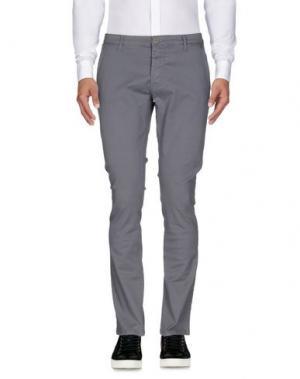 Повседневные брюки ZU+ELEMENTS. Цвет: серый