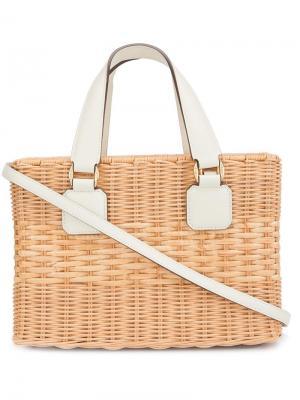 Basket tote Mark Cross. Цвет: коричневый