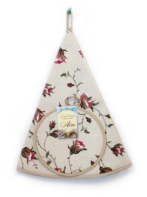 Кухонный набор (полотенце и прихватка круглая) GrandStyle. Цвет: серый