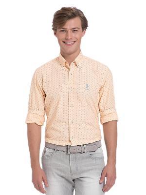 Рубашка U.S. Polo Assn.. Цвет: персиковый, кремовый, сиреневый