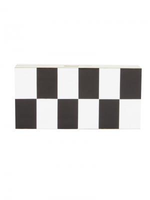 Rectangular resin clutch Serpui. Цвет: чёрный