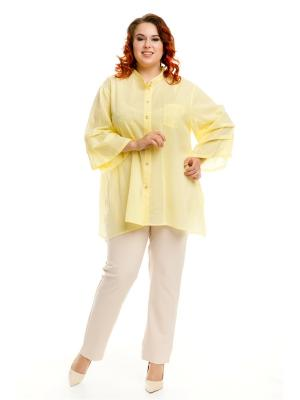 Рубашка Luxury Plus. Цвет: желтый