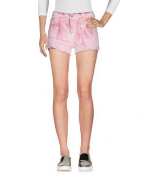 Джинсовые шорты BLAUER. Цвет: розовый