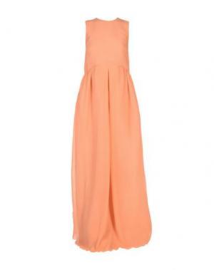 Длинное платье ROCHAS. Цвет: лососево-розовый