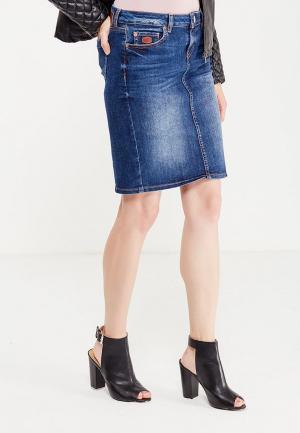 Юбка джинсовая Rifle. Цвет: синий