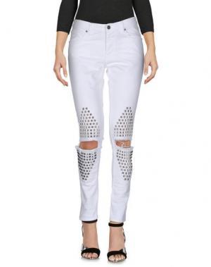 Джинсовые брюки GAëLLE Paris. Цвет: белый