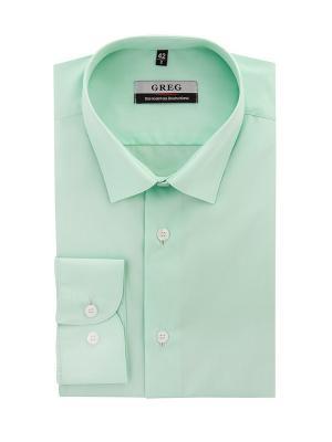 Рубашки GREG. Цвет: салатовый