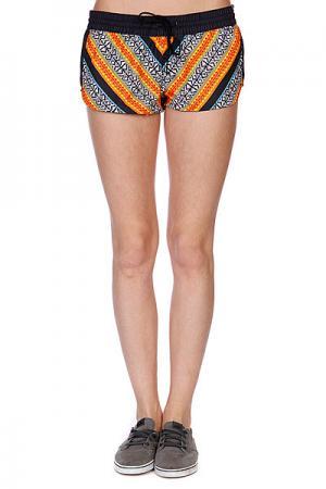 Шорты пляжные женские  Gypsy Queen Boardshort Black Rip Curl. Цвет: белый,оранжевый,черный
