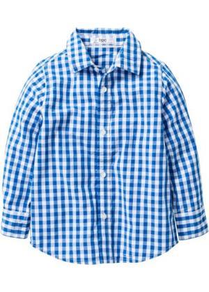 Рубашка для Октоберфеста, Размеры  80/86-128/134 (синий топаз/белый в клетку) bonprix. Цвет: синий топаз/белый в клетку