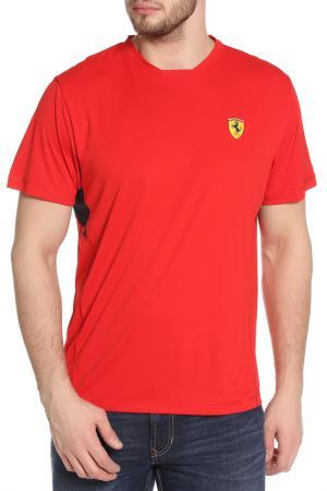 Футболка Ferrari. Цвет: красный