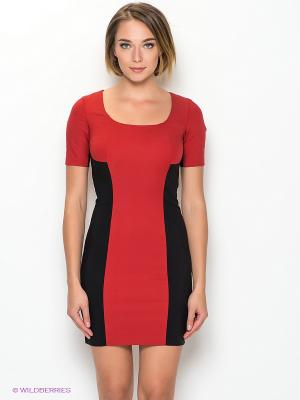 Платье Camelot. Цвет: красный, черный