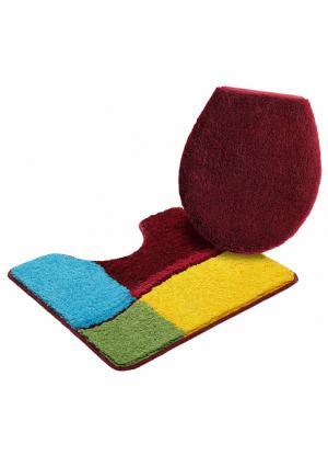 Коврик для ванной комнаты Belio MY HOME. Цвет: разноцветный, серый, синий
