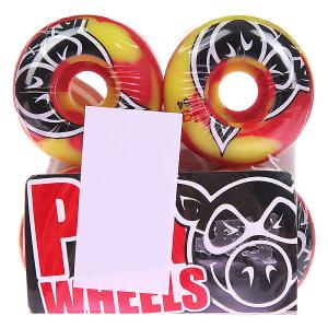 Колеса для скейтборда  Head Swirl Red 101A 54 mm Pig. Цвет: желтый,красный