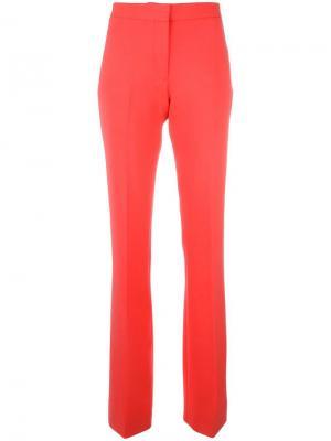 Расклешенные строгие брюки Victoria Beckham. Цвет: жёлтый и оранжевый