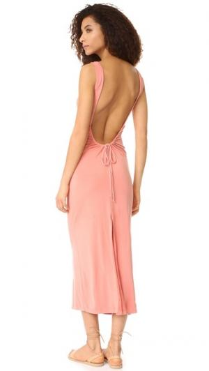 Макси-платье YFB Clothing Isabel Young Fabulous & Broke. Цвет: запеченный коралловый