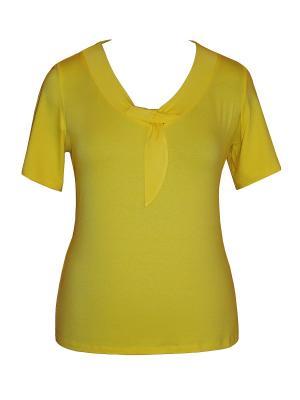 Блузка Dream World. Цвет: желтый