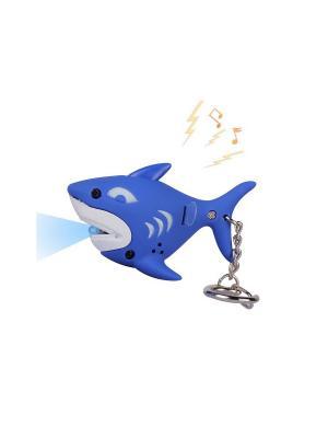 Брелок LED со звуком Дельфинчик Склад Уникальных Товаров. Цвет: синий