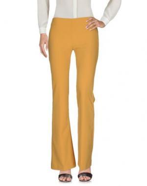 Повседневные брюки MIA SULIMAN. Цвет: охра