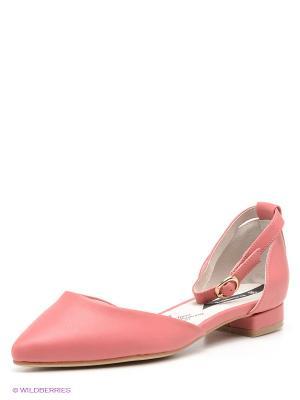 Балетки J&Elisabeth. Цвет: розовый