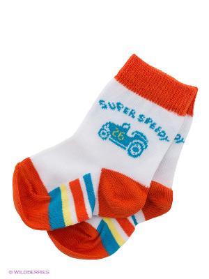 Носки, 2 шт Baby Butt. Цвет: рыжий, белый, синий