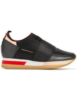 Кроссовки с лямкой Philippe Model. Цвет: чёрный