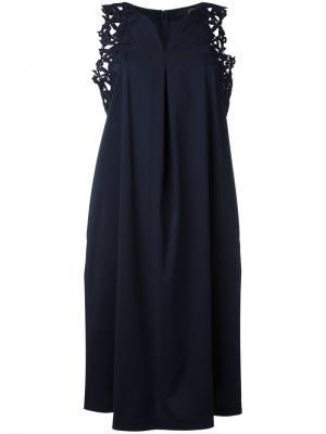 Платье-топ с кружевом Steffen Schraut. Цвет: синий