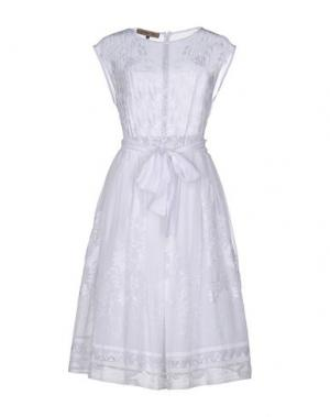 Платье до колена MARIAGRAZIA PANIZZI. Цвет: белый