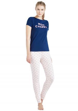 Пижама с брюками Womensecret Women'secret. Цвет: синий (темно-синий морской)