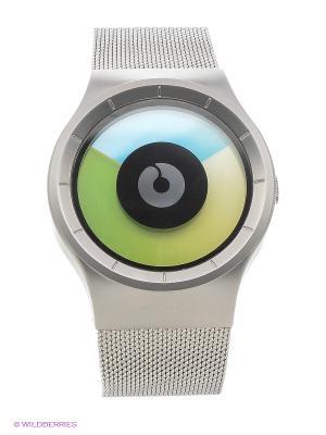 Наручные часы Celeste Chrome - Colored Ziiiro. Цвет: серебристый