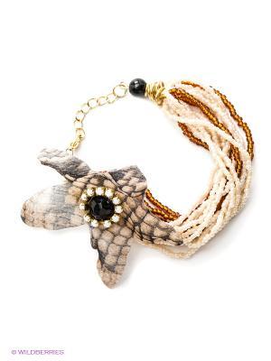 Браслет Maru by Safri. Цвет: коричневый
