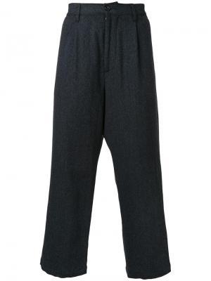 Широкие брюки с узором-елочкой Gold. Цвет: серый