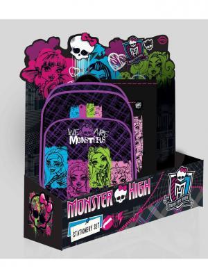 Рюкзак, мешок/обуви Monster High в дисплее. Mattel. Цвет: розовый, фиолетовый