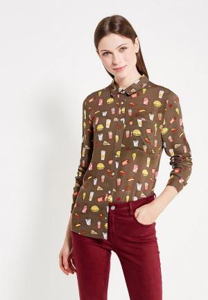 Рубашка Твое. Цвет: коричневый