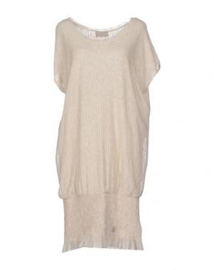Платье до колена ROBERTA SCARPA. Цвет: бежевый