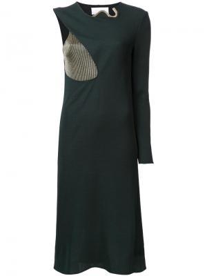 Платье Cocoon Esteban Cortazar. Цвет: зелёный
