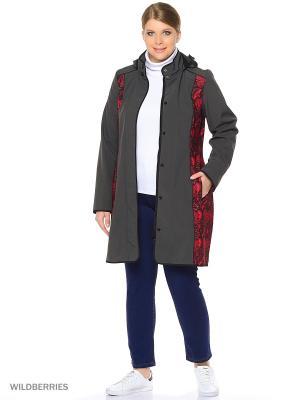 Пальто осень-весна Claw. Цвет: серый