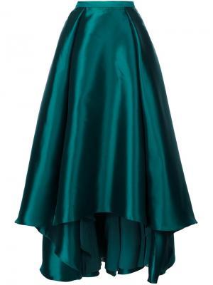 Длинная пышная юбка Badgley Mischka. Цвет: зелёный
