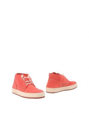 Полусапоги и высокие ботинки BARLEYCORN. Цвет: коралловый